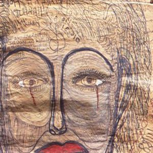 Weeping Woman on Pen and Pastel